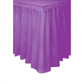 Falda de Plástico para Mesa Lila