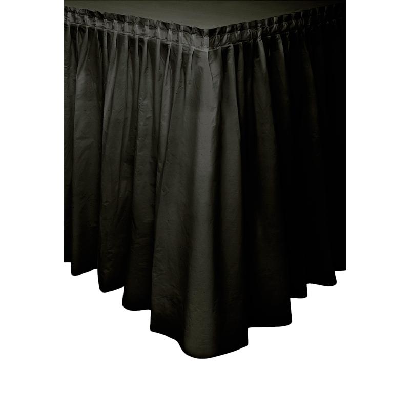 Falda de Plástico para Mesa Negra