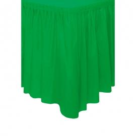 Falda de Plástico para Mesa Verde