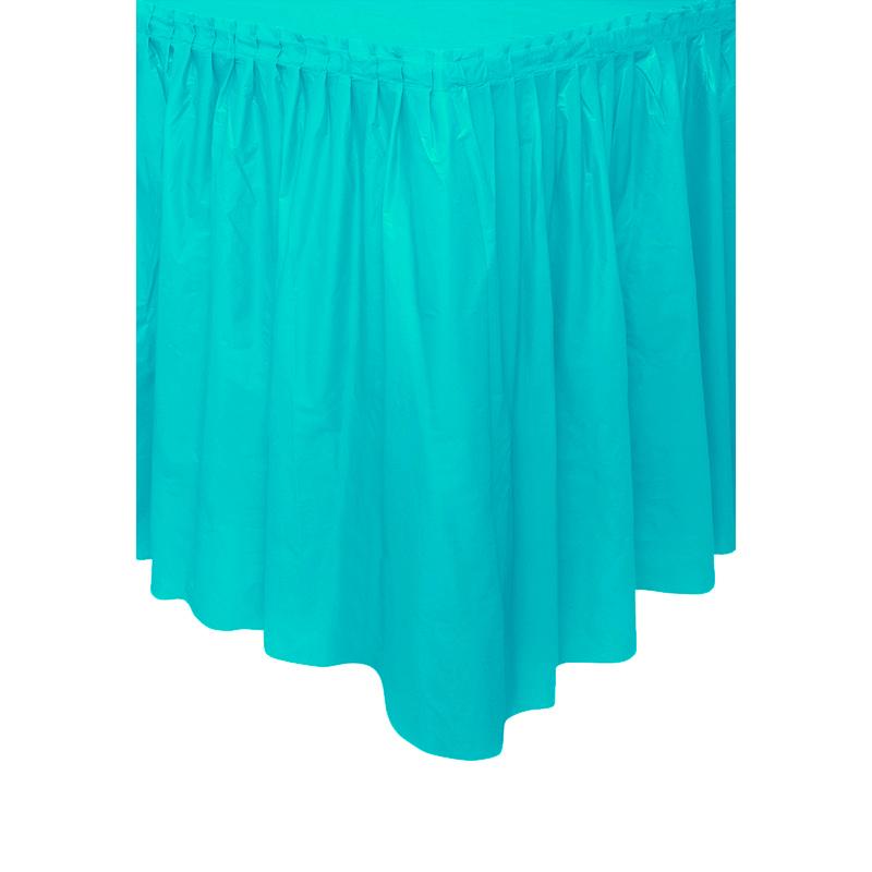 Falda para Mesa Color Turquesa