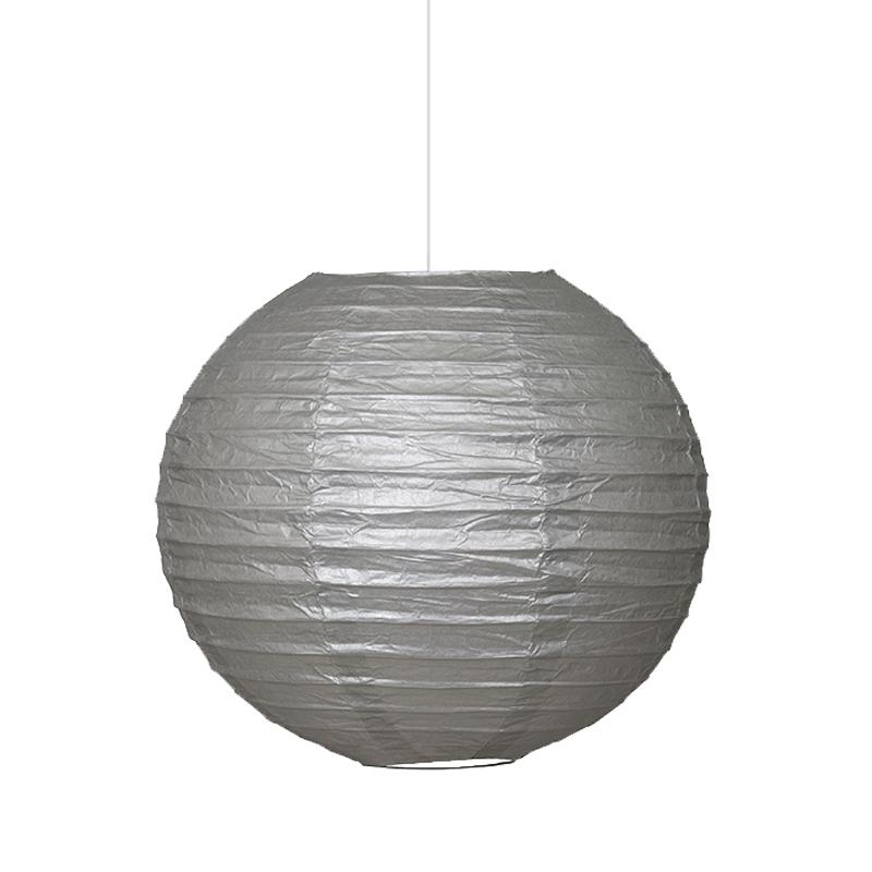 Farolillo de Papel Plata 25 cm