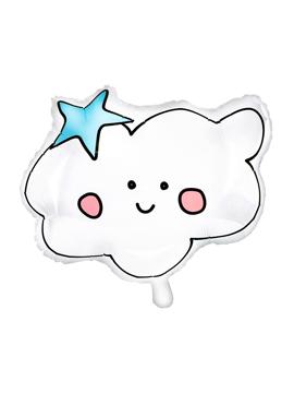Globo de foil con forma de nube con cara de 43 cm de alto
