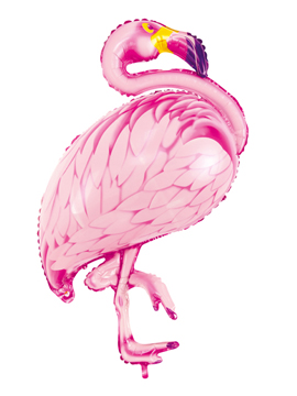 Globo de foil con forma de flamenco rosa de 121 cm de alto