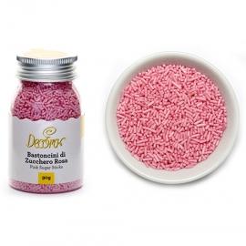 Fideos de azúcar rosas