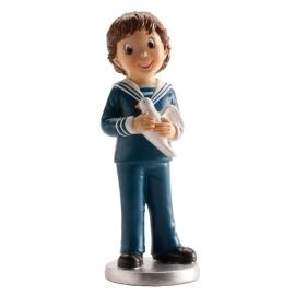 Figura de Comunión Niño con Paloma 16cm