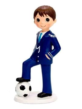 Figura Niño Comunión Fútbol 17 cm