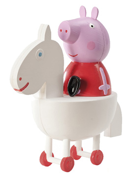 Set para decorar tartas de Peppa Pig y Caballo