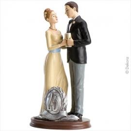 Figura para tarta pareja 25 aniversario 20cm