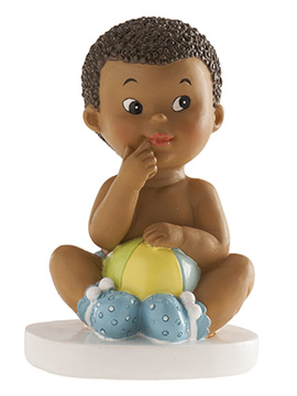 Figura para Tartas Bautizo Niño con Pelota