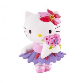 Figura para tartas Hello Kitty con ramo de flores - Miles de Fiestas