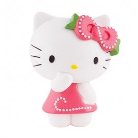 Figura para tartas Hello Kitty con vestido rosa - Miles de Fiestas