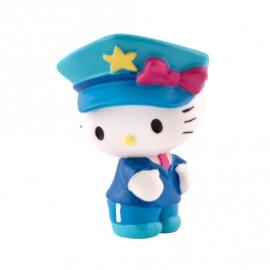 Figura para Tartas Hello Kitty Policía - Miles de Fiestas
