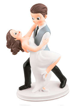 Figura para Tartas Novios Bailando 18 cm