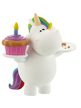 Figura para Tarta Unicornio Cumpleaños 7 cm