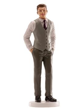 Figura de Boda Hombre con Chaleco Gris 16 cm