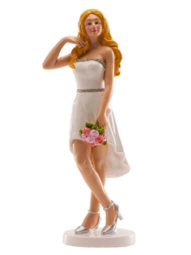 Figura de Boda Mujer con Vestido Corto 16 cm