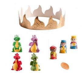Figuritas Roscón de Reyes Dragones 6 pcs