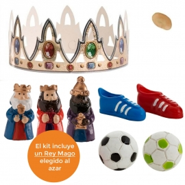 Figuritas Roscón de Reyes Fútbol 7 piezas