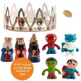 Figuritas Roscón de Reyes Mini Héroes 7 piezas