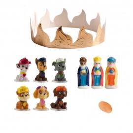 Figuritas Roscón de Reyes Patrulla Canina Modelo B 6 pcs