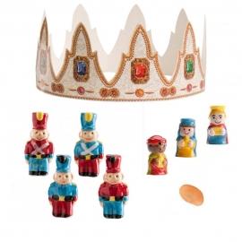 Figuritas Roscón de Reyes Soldadito 6 pcs