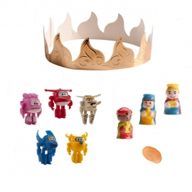 Figuritas Roscón de Reyes Super Wings 6 pcs