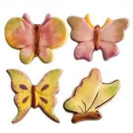 Figuritas Roscón de Reyes Mariposas 4 ud