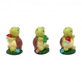 Figuritas Roscón de Reyes Tortugas 3 ud