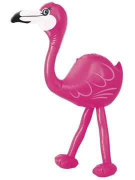 Flamenco rosa inflable de 56 cm