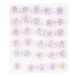 Flores de Azúcar Lilas Pequeñas - Miles de Fiestas