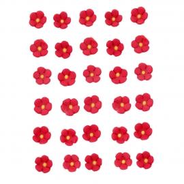 Flores de azúcar Rojas pequeñas