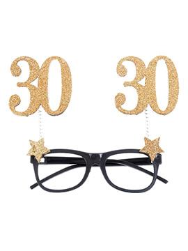 Gafas 30 Cumpleaños Dorado