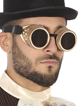Gafas Doradas Steampunk