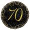 Globo 70 Cumpleaños Negro y Oro 45cm