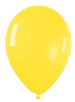 Pack de 10 globos amarillo cristal