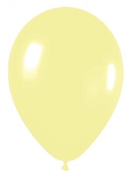 Pack de 10 globos de látex amarillo pastel