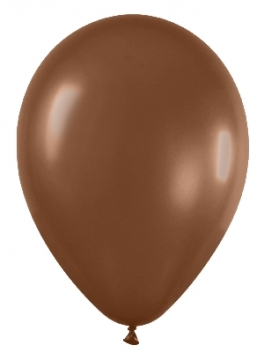 Pack de 10 globos chocolate mate