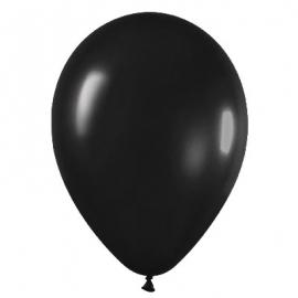Pack de 10 globos de látex negro metalizado