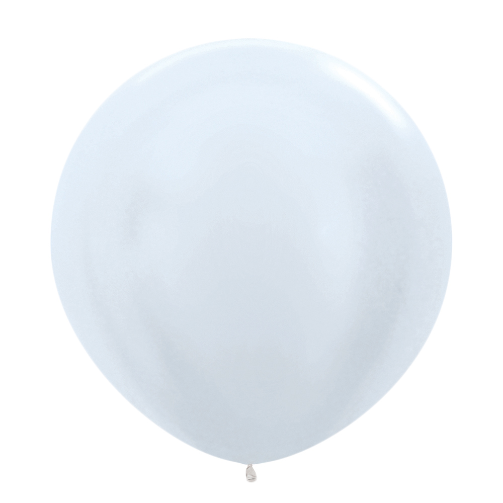 Globo color perla satinada