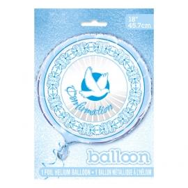 Globo Confirmación Paloma Azul 45 cm