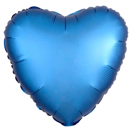 Globo Corazón Azul Satinado 45 cm