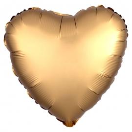 Globo Corazón Oro Satinado 45 cm