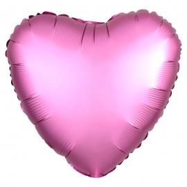 Globo Corazón Rosa Satinado 45 cm