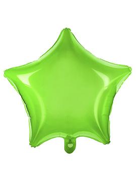 Globo Estrella Transparente Verde 48 cm