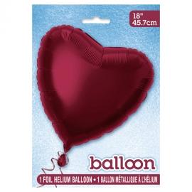 Globo de Foil Corazón Burdeos 45 cm