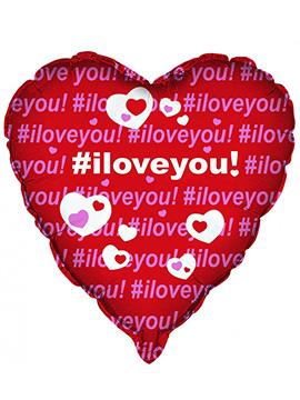 Globo Foil Corazón Rojo I Love You 45 cm