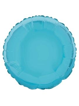 Globo de Foil Redondo Azul Bebé 45 cm.