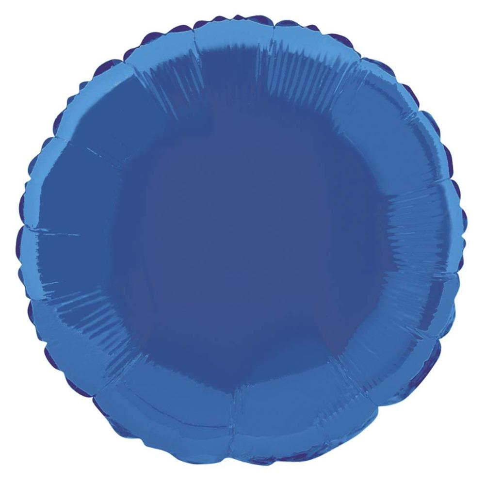 Globo de Foil Redondo Azul Royal 45 cm
