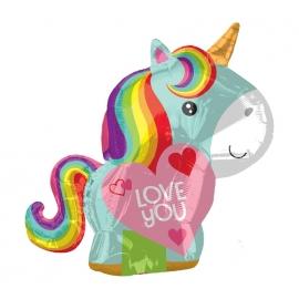 Globo de Foil Unicornio Love 50 cm