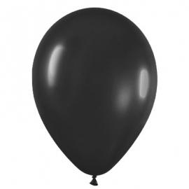 Pack de 10 globos de látex negro mate